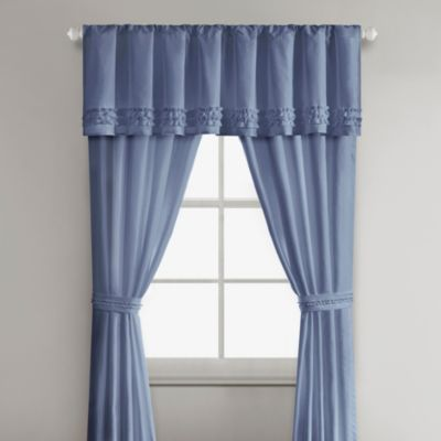 Sidney Window Valance in Blue