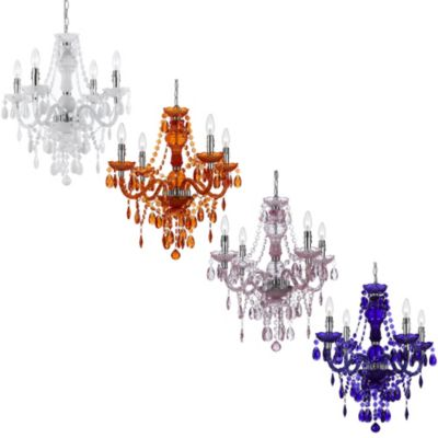 AF Lighting Naples 4-Light Mini Chandelier in White