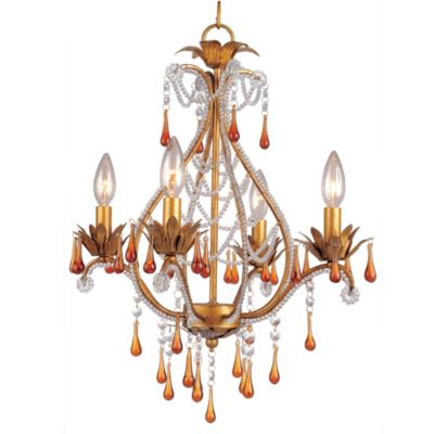 AF Lighting Josephine 4-Light Mini Chandelier