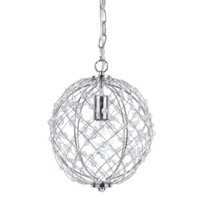 AF Lighting Spherical Silver Web Pendant