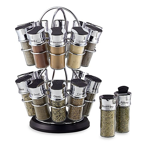 Olde Thompson 20-Jar Spice Rack in Flower-Style