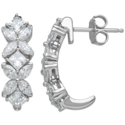 Gemma with Love™ made with Swarovski® Zirconia Sterling Silver Mixed Shape Earrings