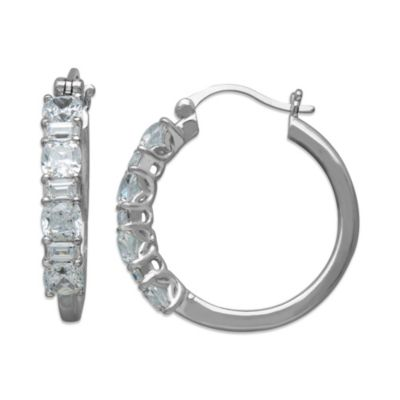 Gemma with Love™ made with Swarovski® Zirconia Sterling Silver Hoop Earrings