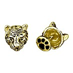 Robin Rotenier 18K Yellow Gold Plated Tiger Head Cufflinks