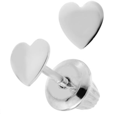 Precious Things Children's Sterling Silver Heart Earrings