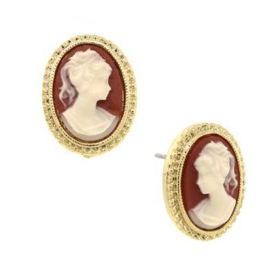 Downton® Abbey Jewellery Goldtone Cameo Stud Earrings
