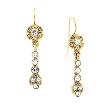 Downton® Abbey Jewellery Goldtone Crystal Drop Earrings