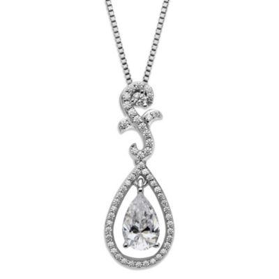 Sterling Silver 18-Inch Chain Teardrop Pendant