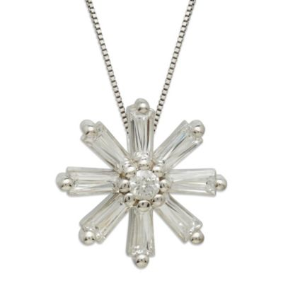 Gemma with Love™ made with Swarovski® Zirconia Sterling Silver Starburst Pendant