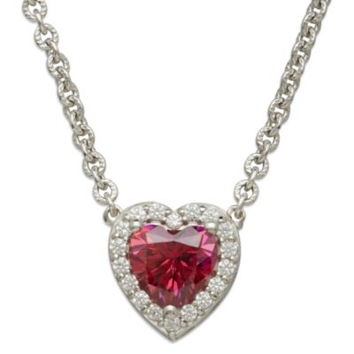 Gemma with Love™ made with Swarovski® Zirconia Sterling Silver Framed Heart Necklace