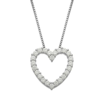 Gemma with Love™ made with Swarovski® Zirconia Sterling Silver Open Heart Pendant