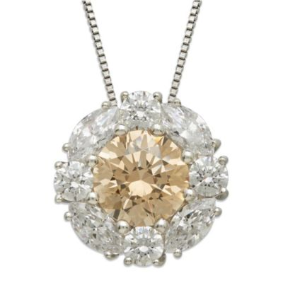 Gemma with Love™ made with Swarovski® Zirconia Sterling Silver Frame Round Pendant