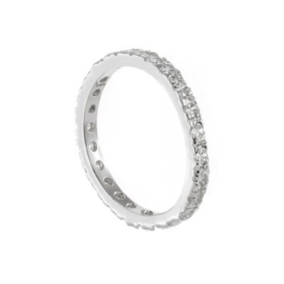CZ by Kenneth Jay Lane Cubic Zirconia Size 7 Eternity Band