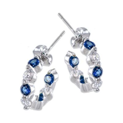 CZ by Kenneth Jay Lane Hoop Earrings