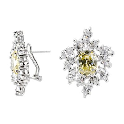 CZ by Kenneth Jay Lane Cluster Earrings