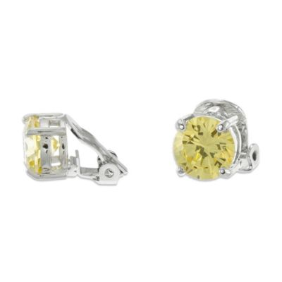 CZ by Kenneth Jay Lane Cubic Zirconia Clip-On Stud Earrings