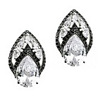 CZ by Kenneth Jay Lane Flame Pear Cubic Zirconia Clip-On Earrings