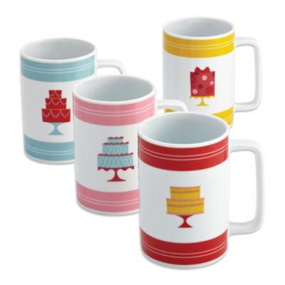 Cake Boss 4-Piece Mug Set