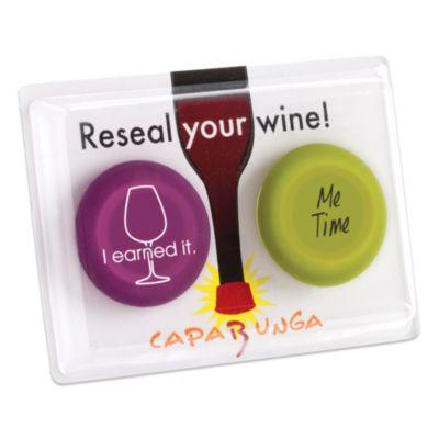 Capabunga Reseal Your Wine! 2-Pack Reusable Wine Cap