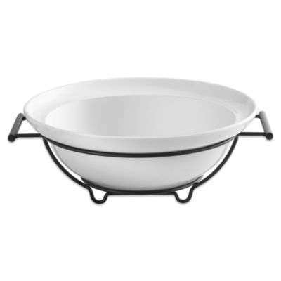 B.Smith 14.5-Inch Pasta Serving Bowl with Metal Handles