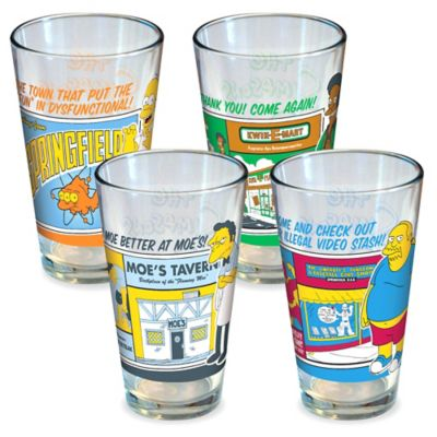ICUP Simpsons Greetings Pint Glasses (Set of 4)