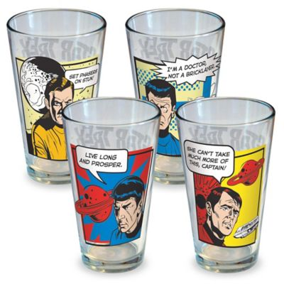 ICUP Star Trek Character Pint Glasses (Set of 4)