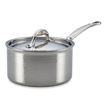 Ruffoni Symphonia Prima 3.5-Quart Stainless Steel Covered Sauce Pan