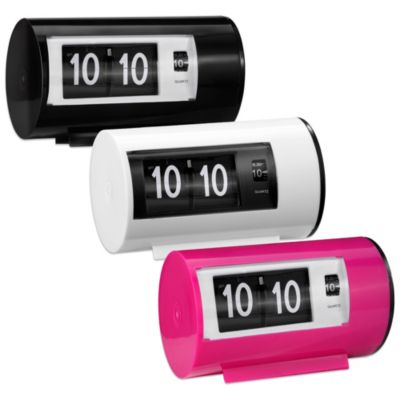 Retro Flip Alarm Clock in Pink