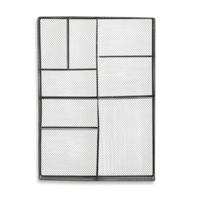 Elements Rectangle Wall Pocket in Silver