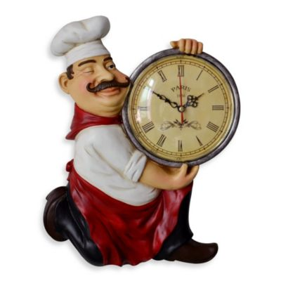 Whimsical Chef Wall Clock
