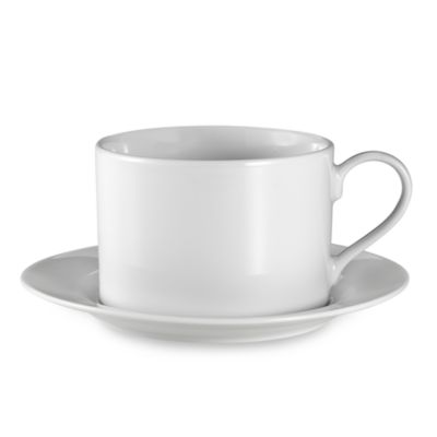 Everyday White® Rim 12-Ounce Cup and Saucer