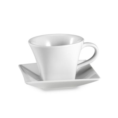 Everyday White® Rim Square 8-Ounce Cup and Saucer