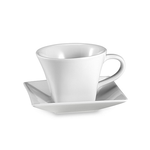 Everyday White® Square 8-Ounce Cup and Saucer