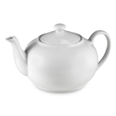 Everyday White® 48-Ounce Rim Teapot