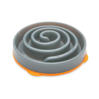 Slo-Bowl Slow Feeder in Coral Grey