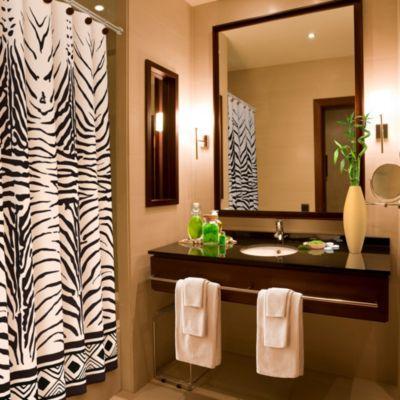 Zebra Print Shower Curtain