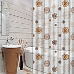 Rosettes 70-Inch x 72-Inch Printed Shower Curtain