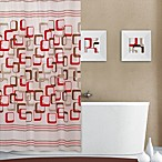 Retro Square Print 70-Inch x 72-Inch PEVA Shower Curtain