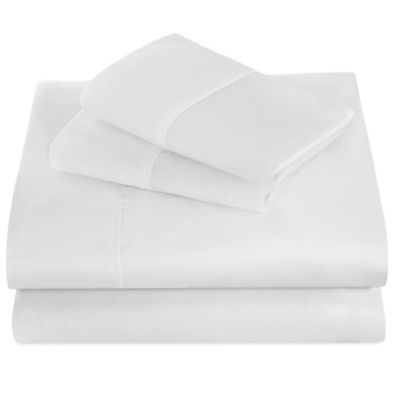 Chic Boutique Microfiber Queen Sheet Set in White