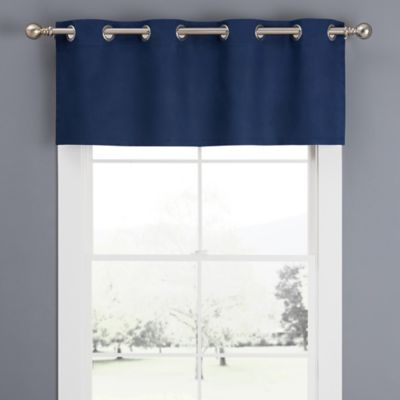 Newport Grommet Window Curtain Valance in Navy