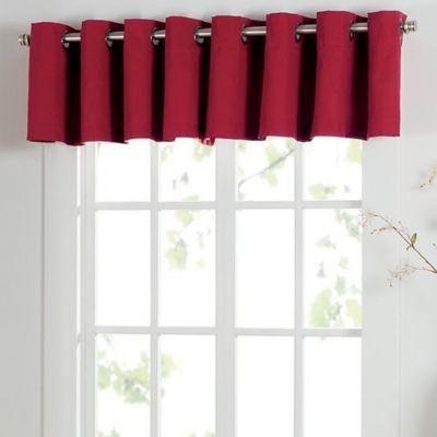 Red Decorating Window Treatment