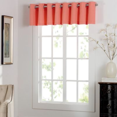Newport Grommet Window Curtain Valance in Black