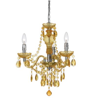 angelo: HOME Fulton Family 3-Light Chandelier in Gold