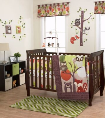 Brown Orange Bedding Set