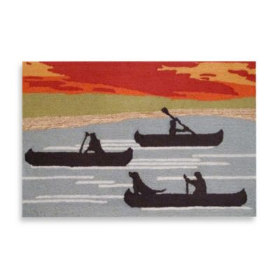 Trans-Ocean Canoe 20-Inch x 30-Inch Front Porch Rug