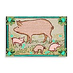 Trans-Ocean Frontporch Piggies Doormat