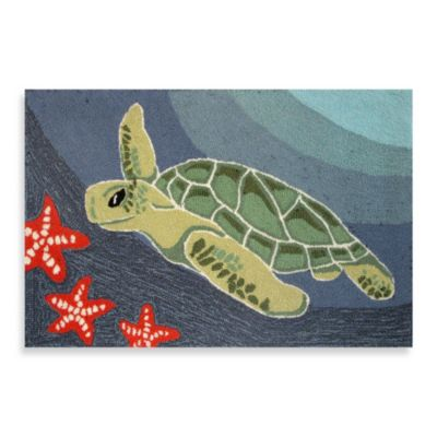 Trans-Ocean Frontporch Sea Turtle 24-Inch x 36-Inch Indoor/Outdoor Door Mat