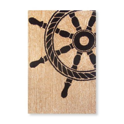 Trans-Ocean 24-Inch x 36-Inch Frontporch Ship Wheel Door Mat