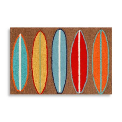 Trans-Ocean 24-Inch x 36-Inch Frontporch Surfboards Door Mat