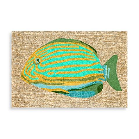 Trans ocean frontporch striped fish door mat bed bath for Fish bath mat